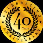 celebrating 40 years of business lamanna tree service badge